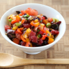 Thumbnail image for Chunky Plum Salsa Cruda Highlights Summer Fruits and Vegetables