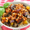 Thumbnail image for Skillet Sicilian Chickpeas Over Brown Rice #SundaySupper #McSkilletSauce