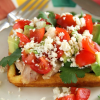 Thumbnail image for Cornbread Waffles with Chicken, Avocado and Sweet and Spicy Crema #GoAutentico