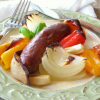 Thumbnail image for 1-Pan Sausage, Onion and Pepper Supper and the #OXOGreenSaver