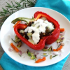 Thumbnail image for Picadillo Stuffed Peppers with Chorizo, Lentils, Cauliflower and Mushrooms {vegetarian}