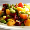 Thumbnail image for Edamame Salad with Persimmon, Peppers and Pine Nuts {Vegan, Gluten-Free}