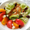 Thumbnail image for Easy Weeknight Chicken, Tomato and Cucumber Dinner Salad