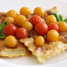 Thumbnail image for Crispy Ravioli in Cherry Tomato Sauce (Vegetarian)