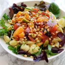 Thumbnail image for Pasta with Tomatoes and Tangerines, Fennel, Currants and Olives (Vegan)