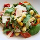 Thumbnail image for Sheet Pan Gnocchi with Cherry Tomatoes, Mozzarella and Arugula