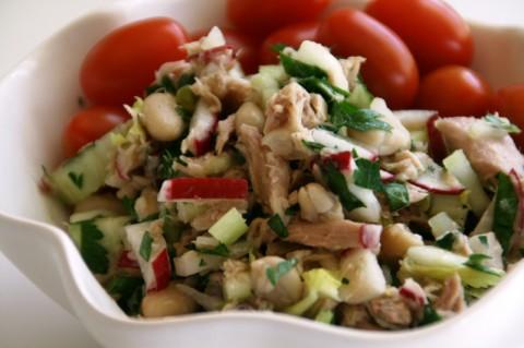 Lemony White Bean, Tuna and Celery Salad