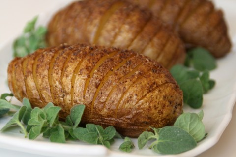 Baked Accordion Potatoes Recipe on Shockingly Delicious