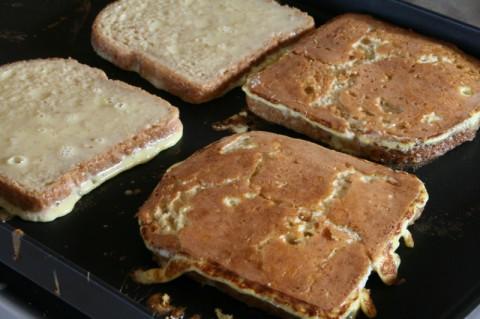 Fiori di Sicilia French Toast on the griddle