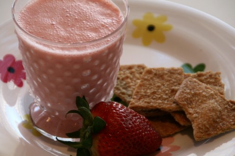 Strawberry Lassi on Shockingly Delicious