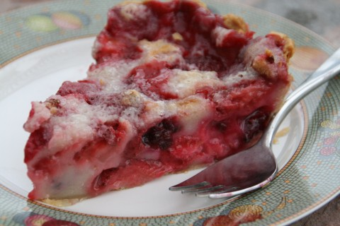 Berrylicious Sour Cream Pie on Shockingly Delicious