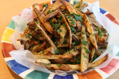 Best Ever Oven Parmesan Fries on Shockingly Delicious