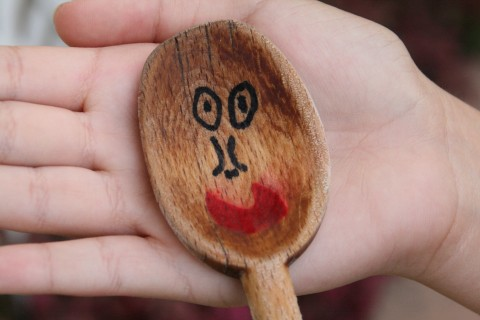 Wooden spoon having some fun!