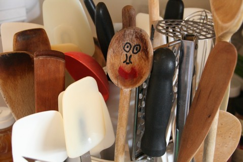 Wooden spoon among friends