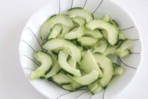 Swedish Cucumber Salad with Dill and Parsley