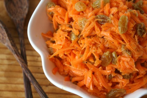 Carrot-Raisin Salad with Argan-Lime Dressing on Shockingly Delicious