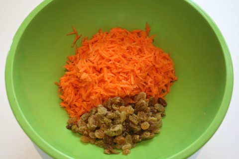 Carrot-Raisin Salad with Argan-Lime Dressing