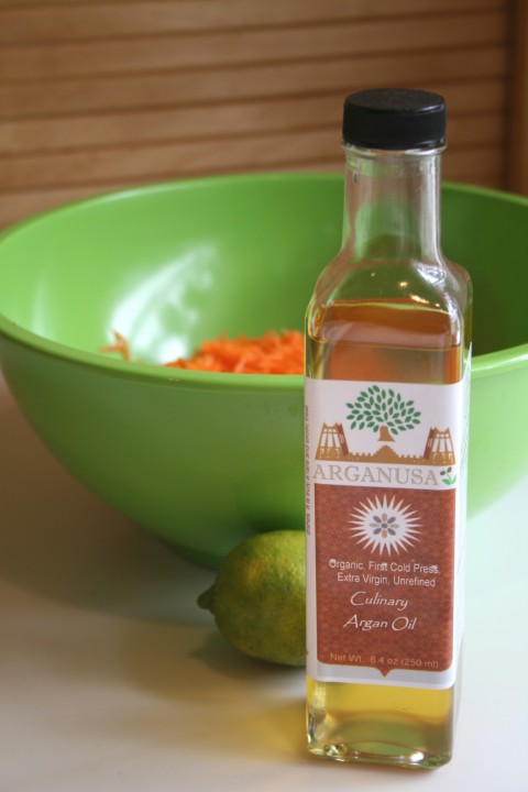 Carrot-Raisin Salad with Argan-Lime Dressing