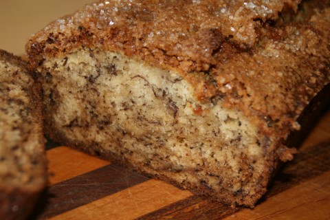 Old School Sour Cream Banana Bread on Shockingly Delicious
