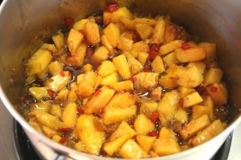 Spiced Fresh Peach Chutney