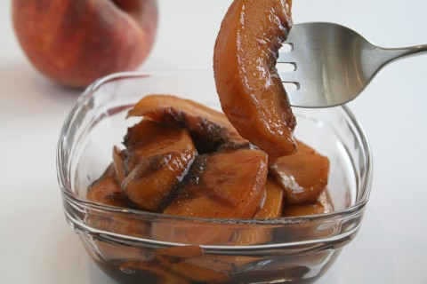 Spiced Peaches on Shockingly Delicious