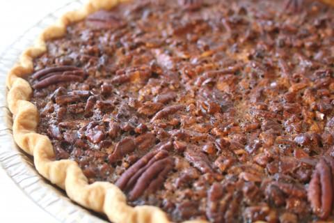 Blue Ribbon Coffee-Toffee Pecan Pie  on ShockinglyDelicious.com