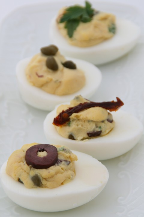 Mediterranean Deviled Eggs