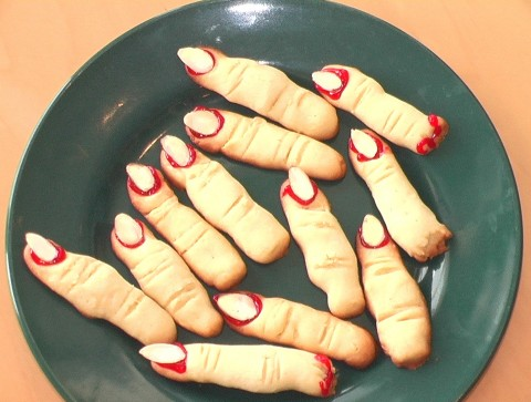 Witches' Digits -- Disgusting but Delicious Halloween Cookies on Shockingly Delicious
