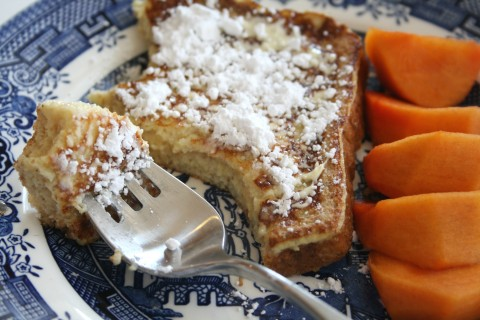 Eggnog French Toast -- 'Tis the Season! on Shockingly Delicious