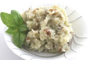 Truffled Mashed Potatoes with Garlic and Dill