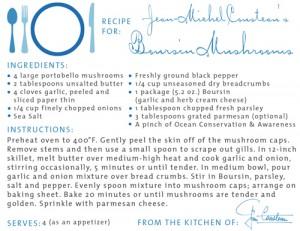 Boursin Mushrooms from Jean-Michel Cousteau