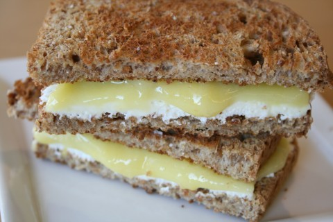 Lemon Cheesecake Breakfast Sandwich on Shockingly Delicious