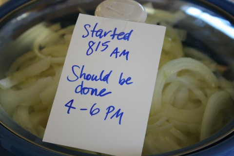 Onions in the Crock-Pot from Shockinglydelicious.com