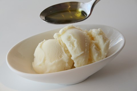 Vanilla Ice Cream with Olive Oil and Sea Salt from Shockinglydelicous