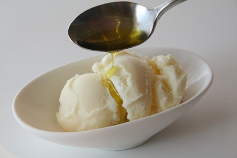 Vanilla Ice Cream with Olive Oil and Sea Salt on Shockingly Delicious