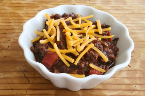 Mom's Spicy Chili | Deeply flavored chili without being too spicy | ShockinglyDelicious.com