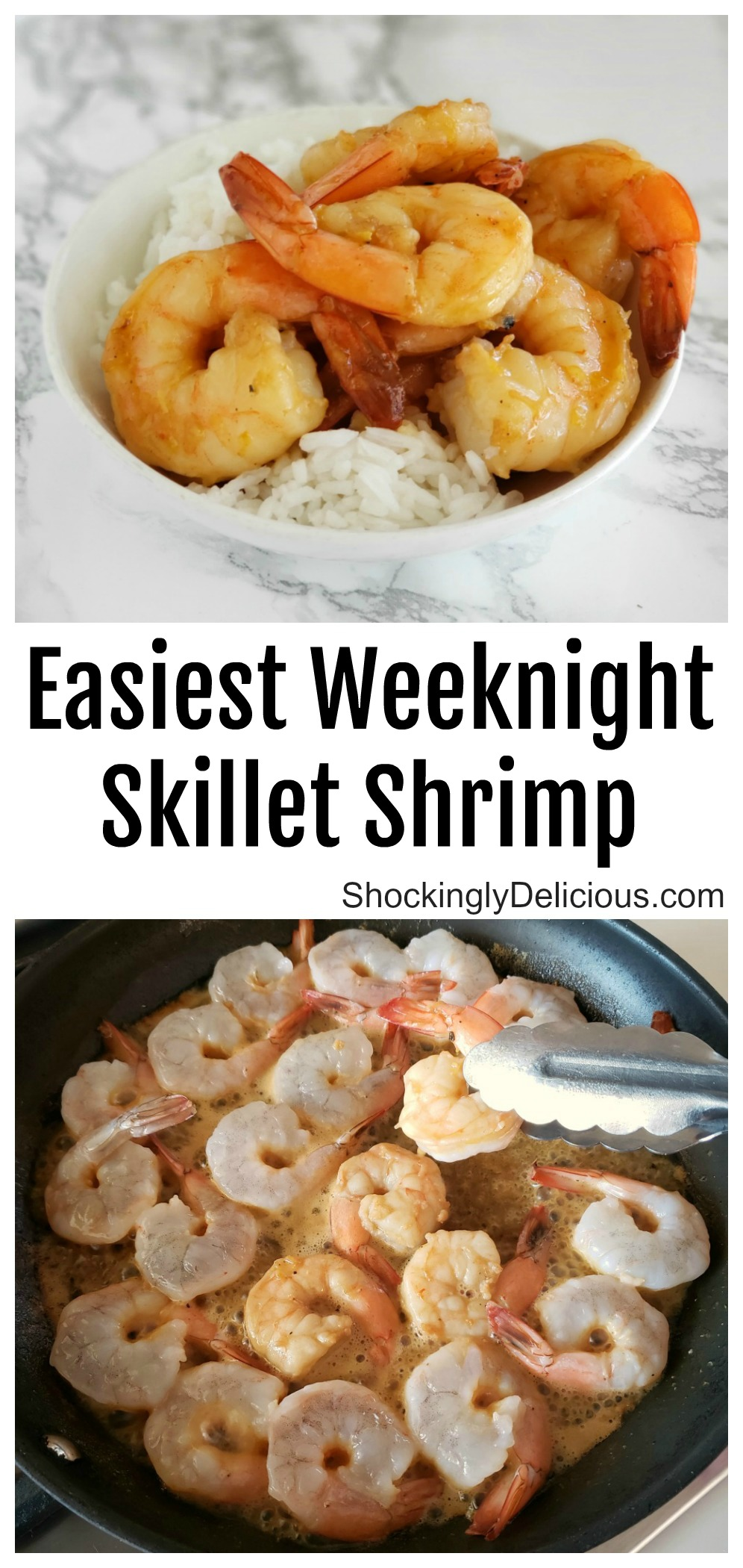 Easiest recipe Weeknight Skillet Shrimp on ShockinglyDelicious.com