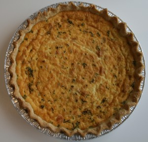 Smoked Salmon with Caramelized Onion Quiche from Shockinglydelicious.com
