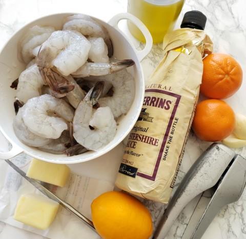 Ingredients for Weeknight Skillet Shrimp on ShockinglyDelicious.com