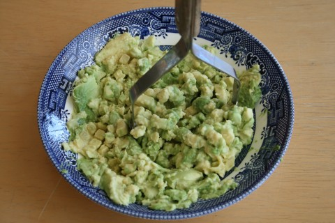 Mashed fuerte avocado from Shockinglydelicious.com