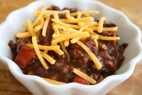 Mom's Spicy Chili for All Ages | Deeply flavored chili without being too spicy | ShockinglyDelicious.com