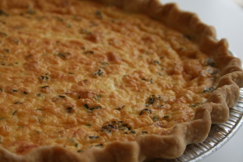Smoked Salmon with Caramelized Onion Quiche on Shockingly Delicious