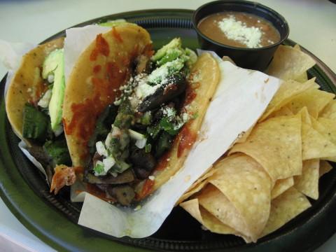 Rubios Portobello Poblano Grilled Gourmet Taco on Shockingly Delicious