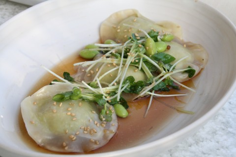 Edamame Dumplings at True Food Kitchen