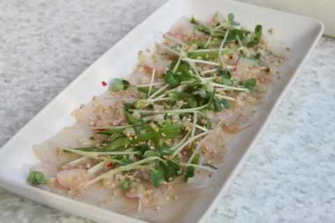 Hamachi with Radish and Sprouts from True Food Kitchen