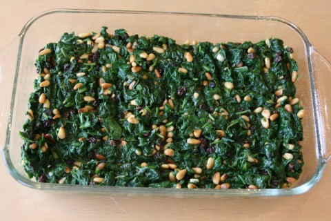 Spinach Pie with Pine Nuts and Currants