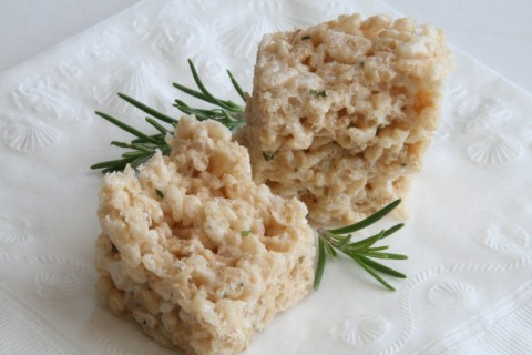 Rosemary Rice Krispy Treats | ShockinglyDelicious.com