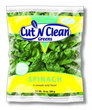 Cut `n Clean Greens Spinach on shockinglydelicious.com