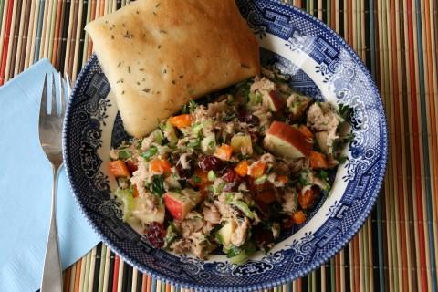 Impromptu Cran-Apple Tuna Salad with Fresh Herbs