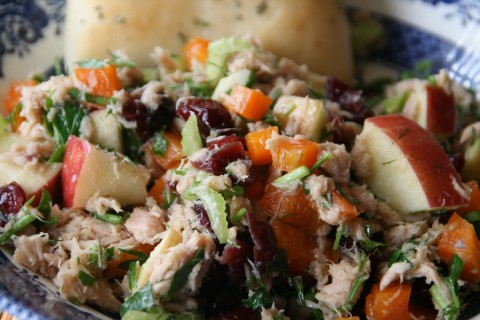 Impromptu Cran-Apple Tuna Salad with Fresh Herbs